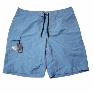 Columbia PFG Angler Blue Board Shorts Size 37